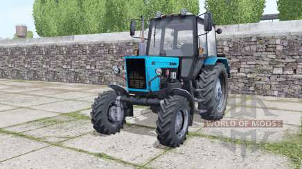 MTZ-82.1 bleu vif pour Farming Simulator 2017