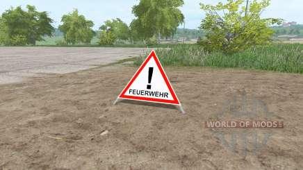 Warning Sign pour Farming Simulator 2017