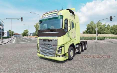Volvo FH16 750 8x4 Globetrotter XL 2014 pour Euro Truck Simulator 2