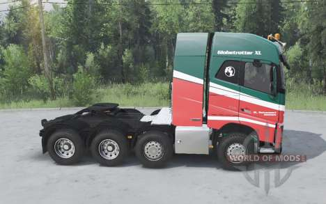 Volvo FH16 750 8x4 tractor Globetrotter cab pour Spin Tires