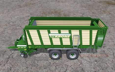 Krone ZX 450 GL doubled collecting speed pour Farming Simulator 2015