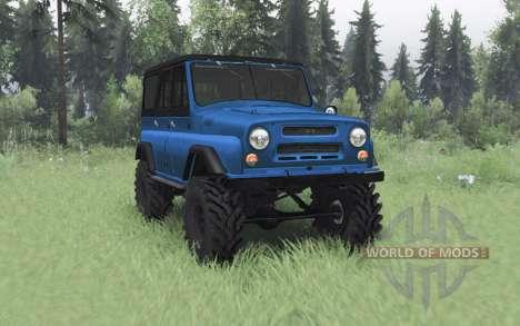 UAZ 469 bleu v1.1 pour Spin Tires