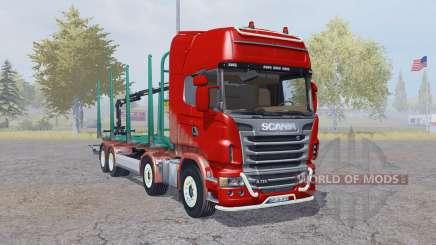 Scania R730 V8 Topline 8x8 Timber Truck pour Farming Simulator 2013