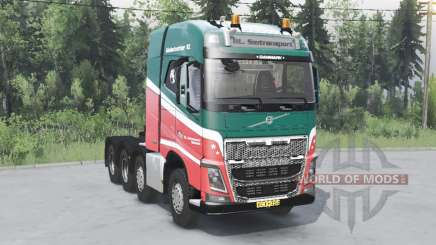 Volvo FH16 750 8x4 tractor Globetrotter cab für Spin Tires
