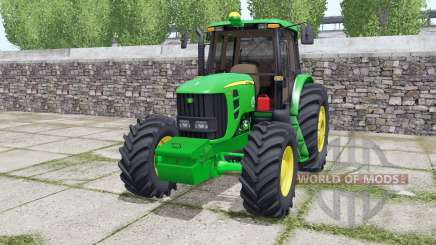 John Deere 6180J double wheels für Farming Simulator 2017