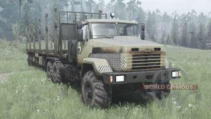 KrAZ 6322 dark-grise-jaune v2.0 pour MudRunner