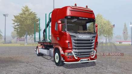 Scania R730 V8 Topline 4x4 Timber Truck pour Farming Simulator 2013