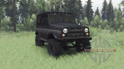 UAZ 469 gris foncé v1.1 pour Spin Tires