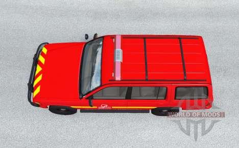 Gavril Roamer French Pompiers v1.0.2 pour BeamNG Drive