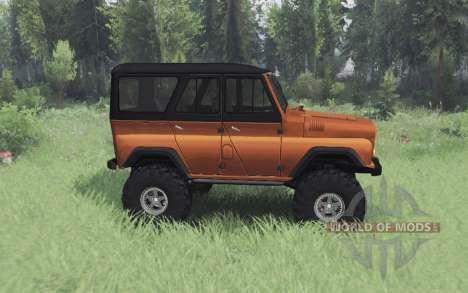 UAZ 469 orange v1.2 pour Spin Tires
