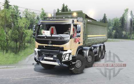Volvo FMX 8x8 2014 pour Spin Tires