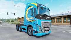 Farbe Roml Ladung auf LKW Volvo