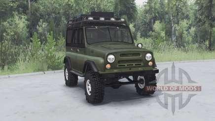 UAZ 469 kaki v1.2 pour Spin Tires