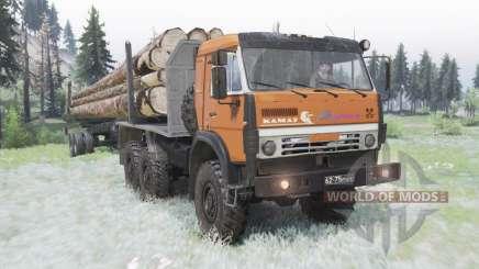 KamAZ 5350 modérément-orange pour Spin Tires