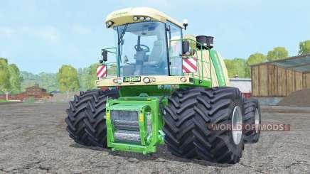 Krone BiG X 1100 double wheels pour Farming Simulator 2015