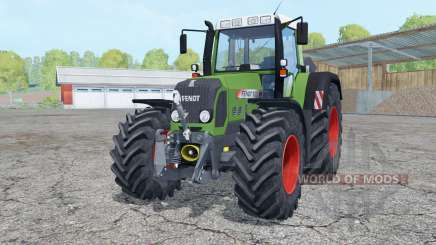 Fendt 820 Vario TMS with weight pour Farming Simulator 2015