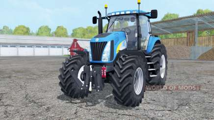 New Holland TG285 with weight pour Farming Simulator 2015