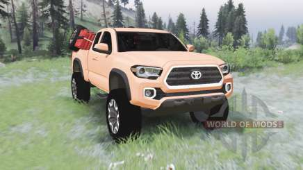 Toyota Tacoma TRD Off-Road Access Cab 2016 für Spin Tires