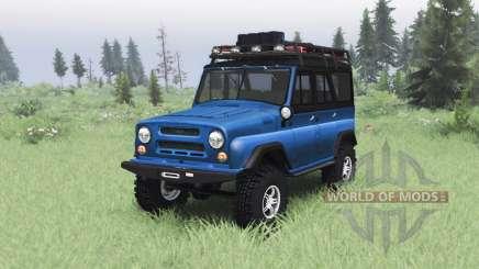 UAZ 469 bleu v1.2 pour Spin Tires