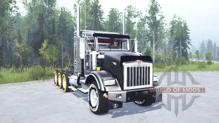 Kenworth T800 four-axle 2005 v2.0 pour MudRunner