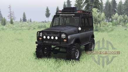 UAZ 469 noir v1.2 pour Spin Tires