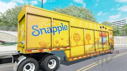 Semi-Tieflader für den Transport von Getränken Mickey für American Truck Simulator