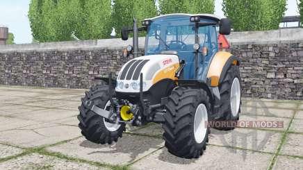 Steyr 4115 Multi 2013 soft orange pour Farming Simulator 2017