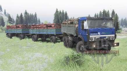 KamAZ 5350 bleu foncé pour Spin Tires