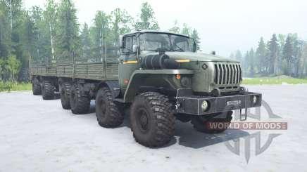Ural-6614 Grau-grüne Farbe für MudRunner